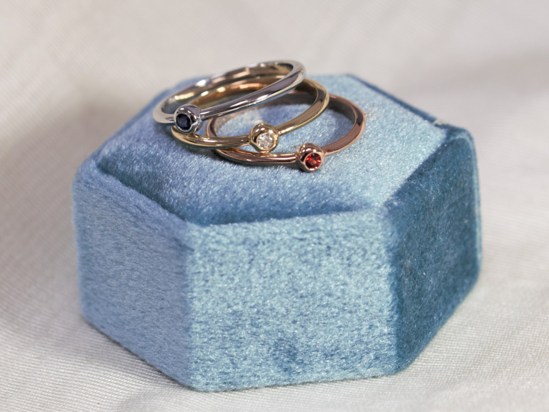 Diamond Rings in Gold and Platnium, Colorful Gemstone, Gold and Silver Rings. We Make Rings Custom on Site and can - image #3
