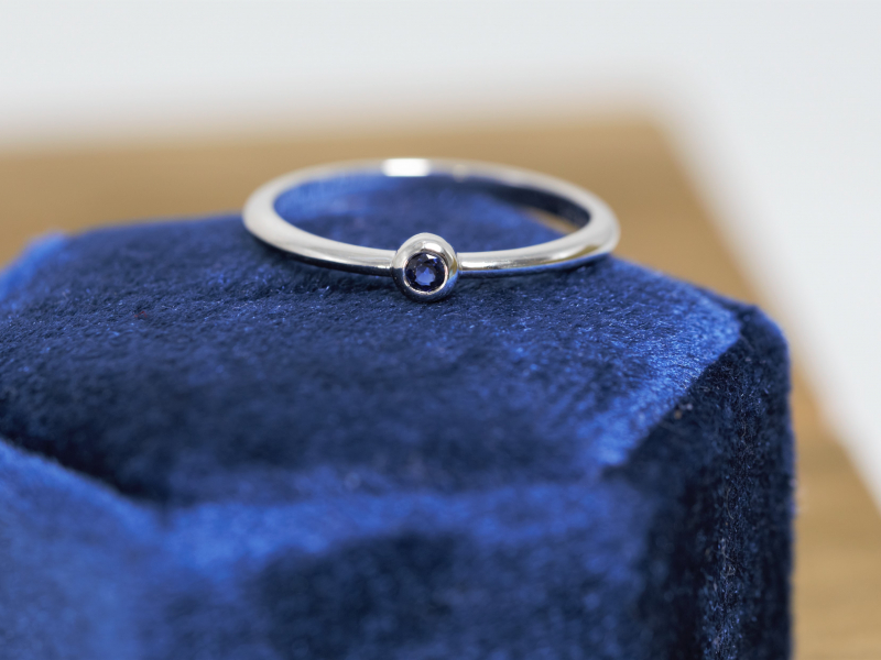 14k white gold sapphire ring, sapphire rings under 300