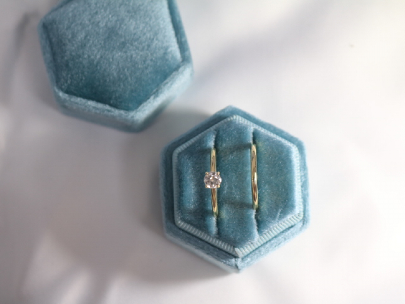 solitaire engagement ring set, 14k gold solitaire engagement rig