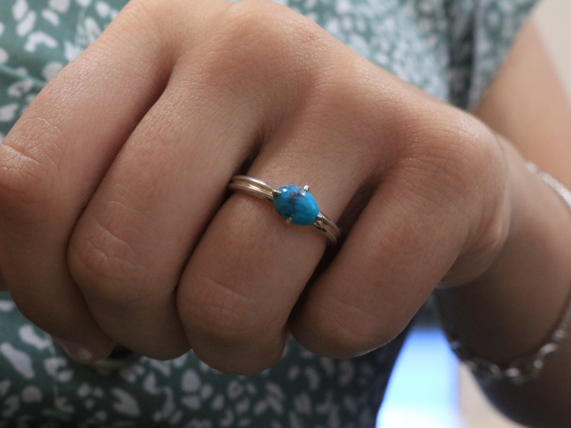turquoise ring, non tarnish turquoise jewelry,