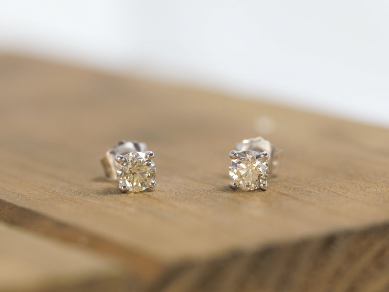 Diamond Earrings for men, Medium size diamond studs