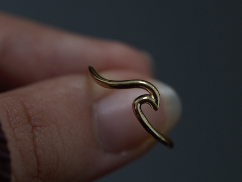 wave ring gold, custom gold rings, simple gold, gold rings for young girls,