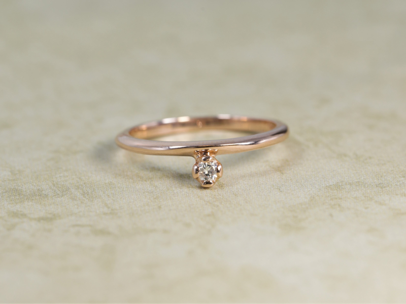 rose  gold diamond ring, dainty stackable, rings to wear on any finger, custom jewelry