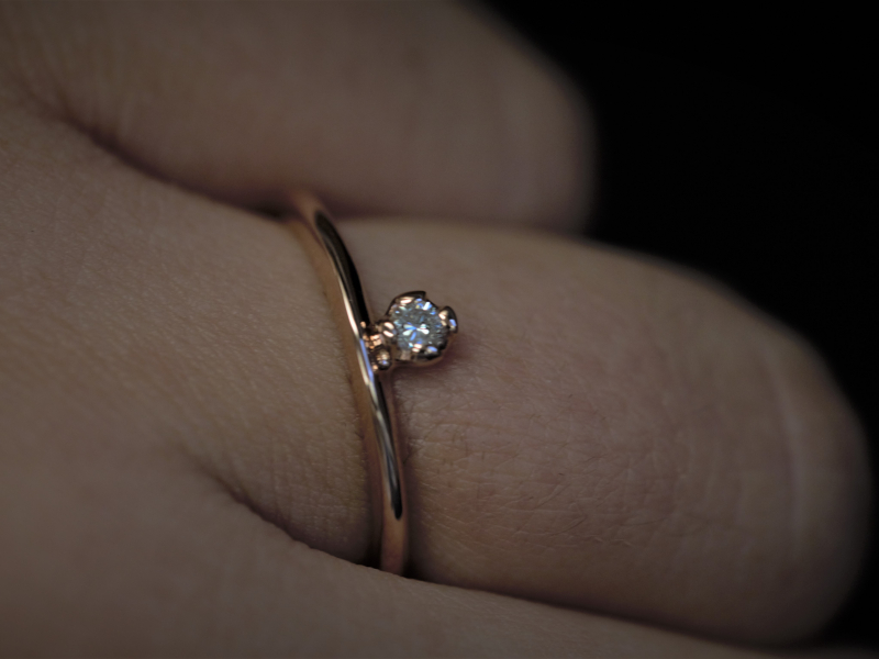 rose gold ring, Promise Ring