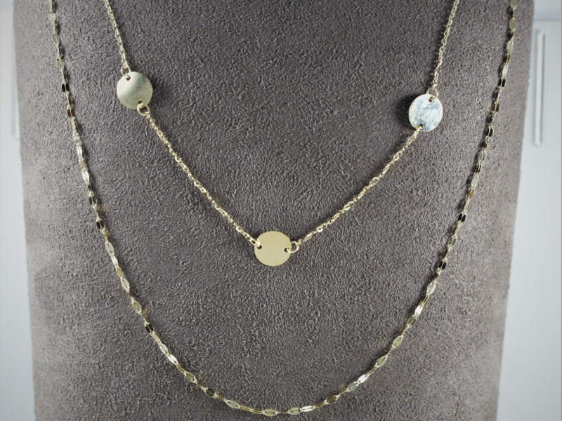 14k yellow gold, leslies chain necklaces, hannah g necklace, bachelor in paradise necklace
