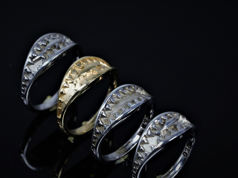 Shark rings, great white shark ring,