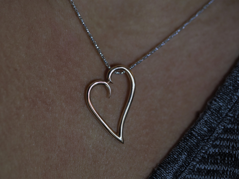 The Loving Heart necklace, goldheart jewelry, heart jewelry