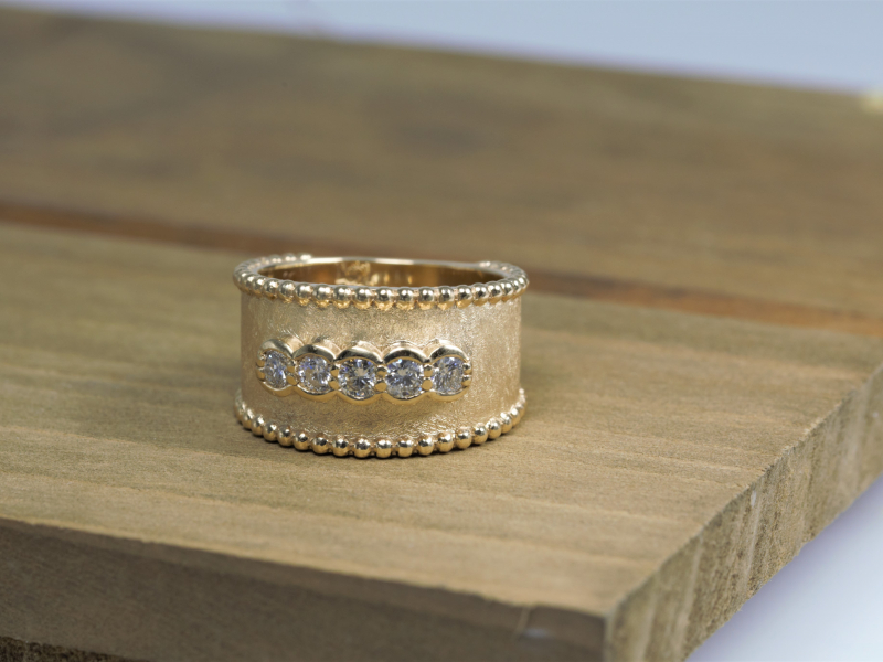 Rings - Diamond Etruscan Band - image 2