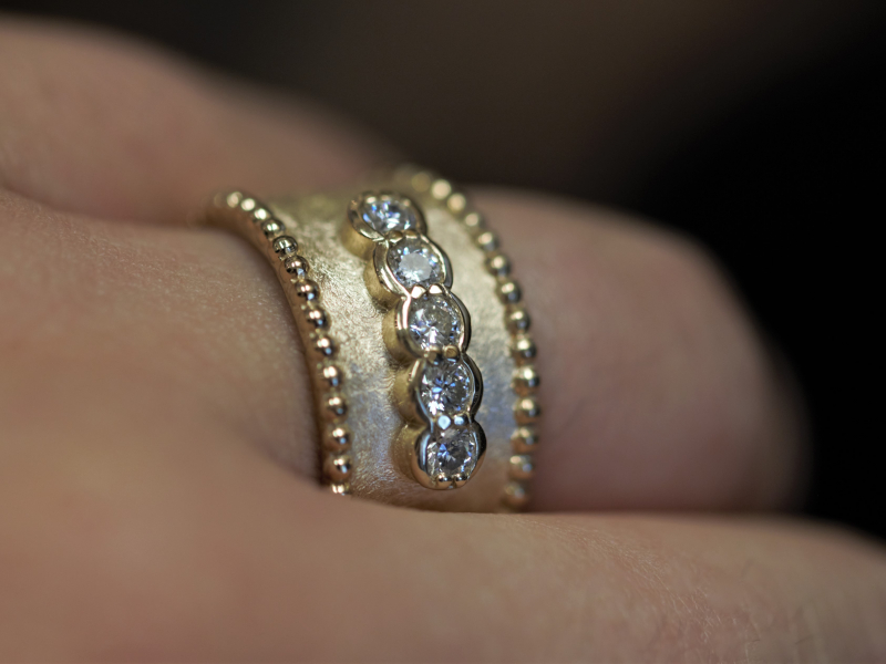 Rings - Diamond Etruscan Band - image 3