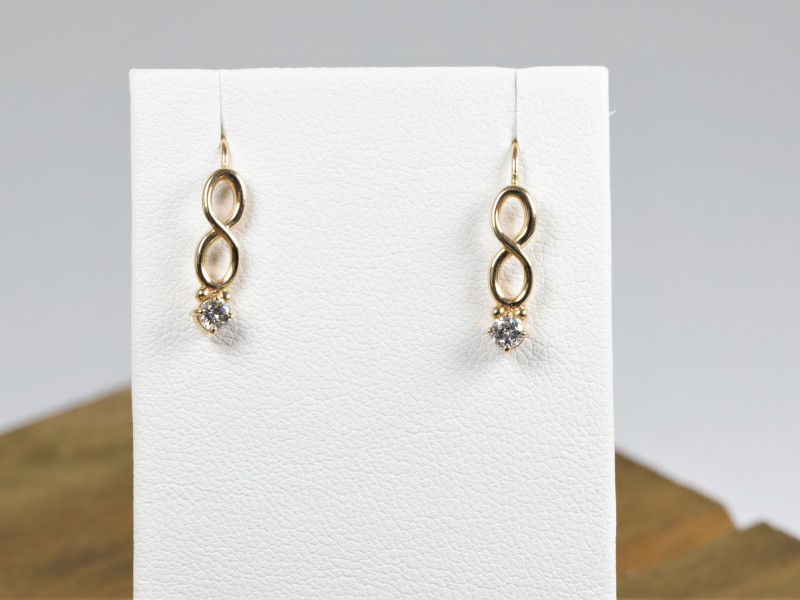 Our collection of high quality earrings feature 14k gold hoops, diamond studs, colorful gemstone earrings, dangles - image #3