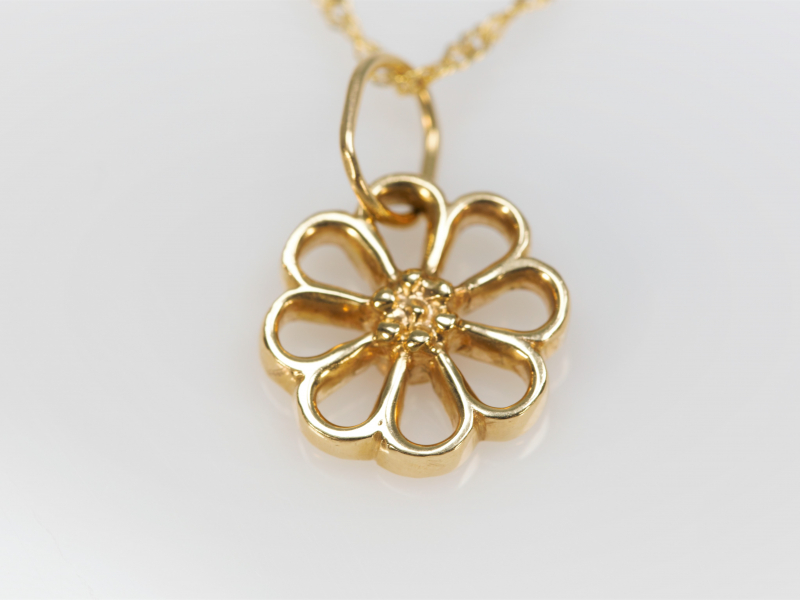 Flower Pendant in 14kt Yellow Gold