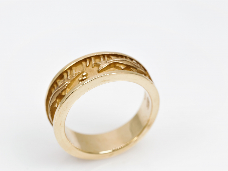 Les Olson Jewelers Custom Designs - Fish Ring, Yellow Gold or White Gold - image 3