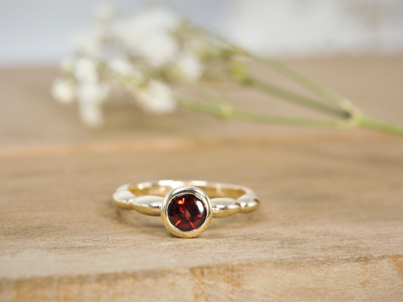thick band garnet ring, garnet rings