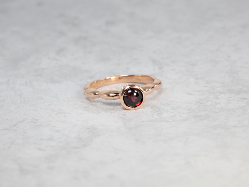 garnet ring, custom garnet rings, rose gold rings for daughter