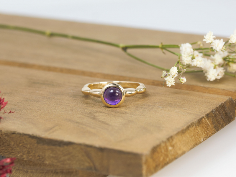 Rings - Custom Cabachon Amethyst Ring - image 2