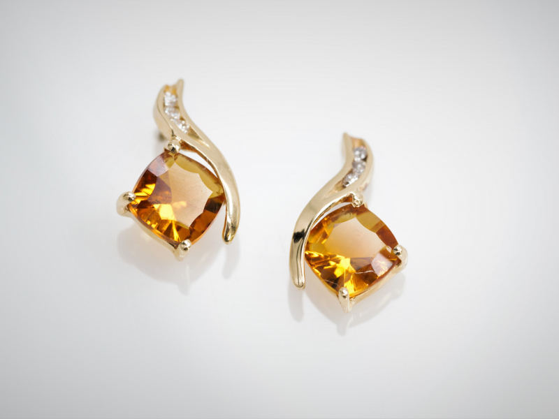 Earrings - Citrine earrings - image 2