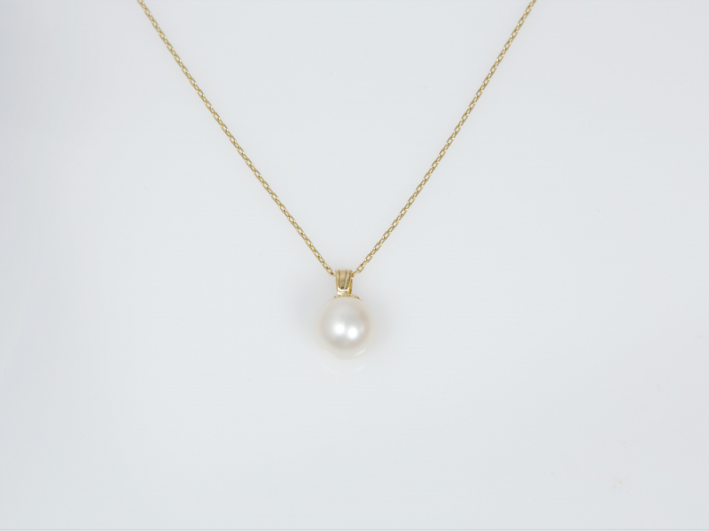 single pearl necklace, simple pearl jewelry, pearl jewelry, custom made