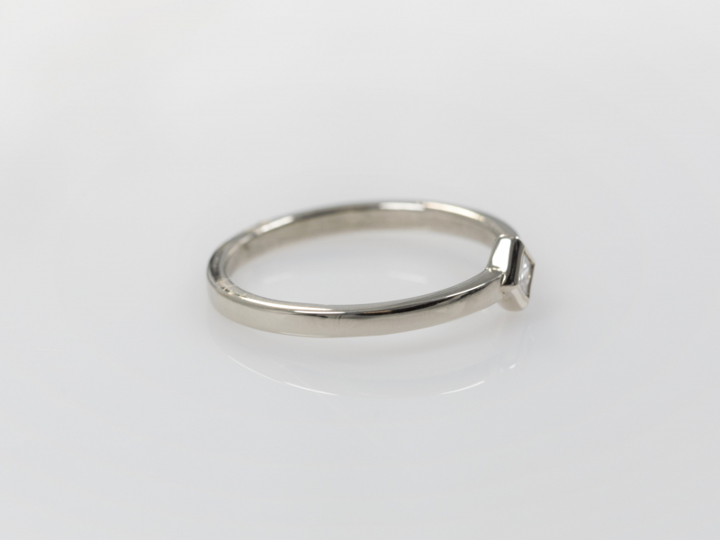 Rings - Kite Set White Gold Stackable - image 2
