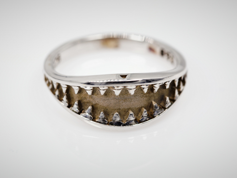 shark ring, sterling shark ring, jaws ring, sterling mens rings,