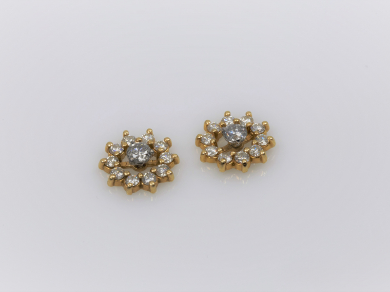 gold diamond earring jackets Gold and Diamond Earring Jackets