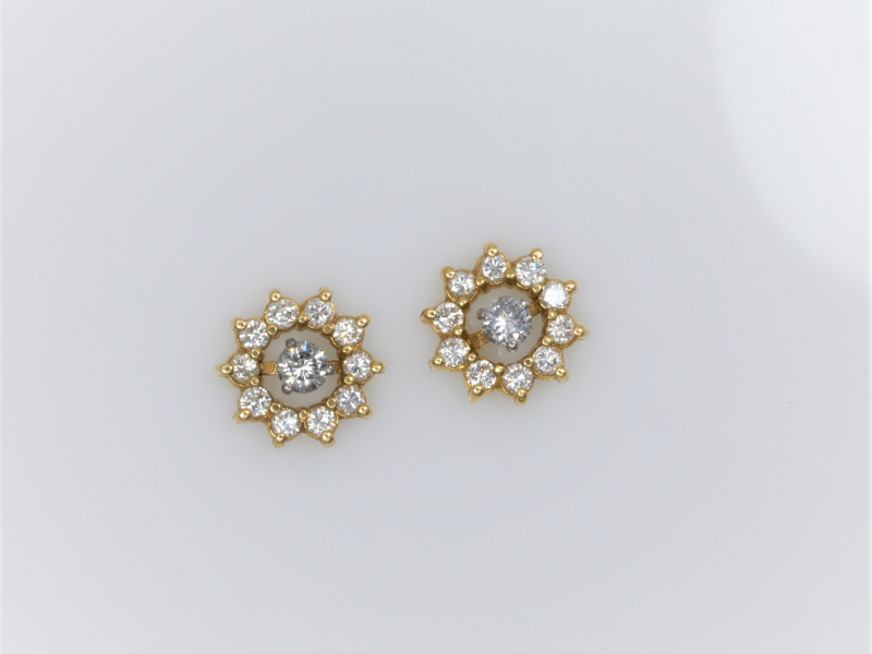 diamond earrings, diamond and gold earrings, gold earring jackets, star diamond earrings - Gold and Diamond Earring Jackets