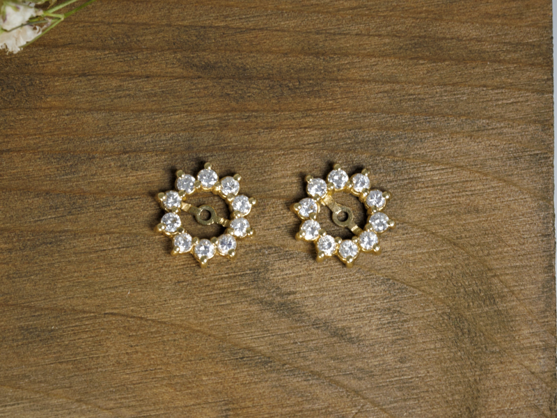 gold diamond earring jackets