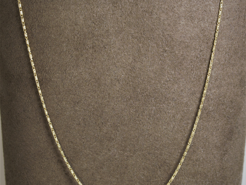 raso chain, pendant chain, durable gold chain, yellow gold chain, hefty - Gold Raso Chain 18'