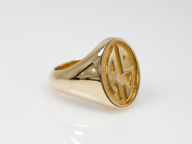 Monogram Ring, real gold ring, name ring, name on jewelry