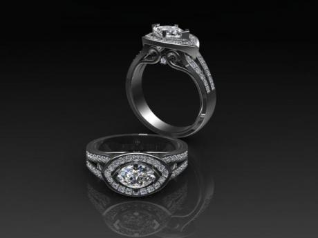Our Wedding  Jewelry includes Engagement Rings, Wedding Bands, and Wedding Ring Sets.  We can custom design your ring and eve