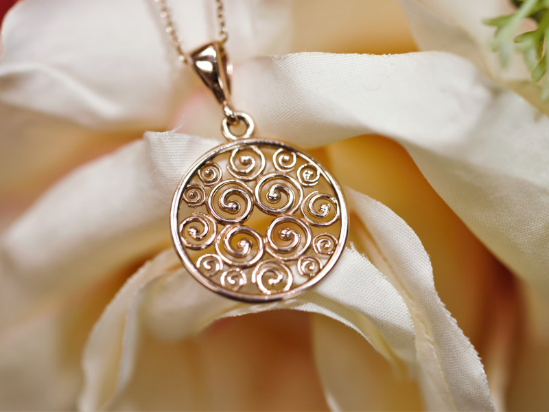 Pendants & Necklaces - Rose Gold Pendant, Small, Sisterhood Collection - image 5