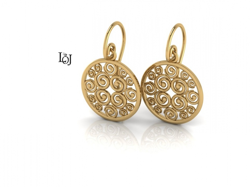 Gold Earrings supporting Cancer Research, Sisterhood Collection