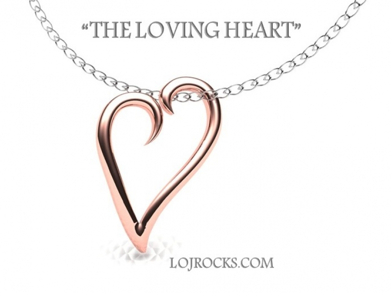Heart Pendant in Rose Gold - Heart Pendant in Rose Gold, The Loving Heart