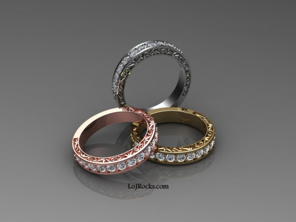 Eternity Ring in White, Yellow, or Rose Gold