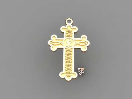 Cross Pendant in 14kt Yellow Gold