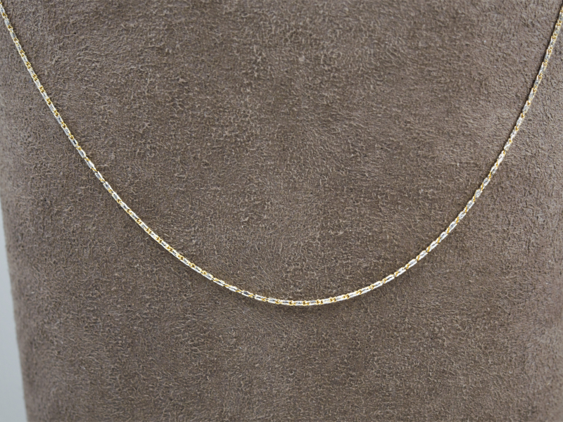 raso chain, two toned gold chain, raso two toned gold chain, quality chain, 24 inch womens chain - 24' Two Toned Gold Raso Ch