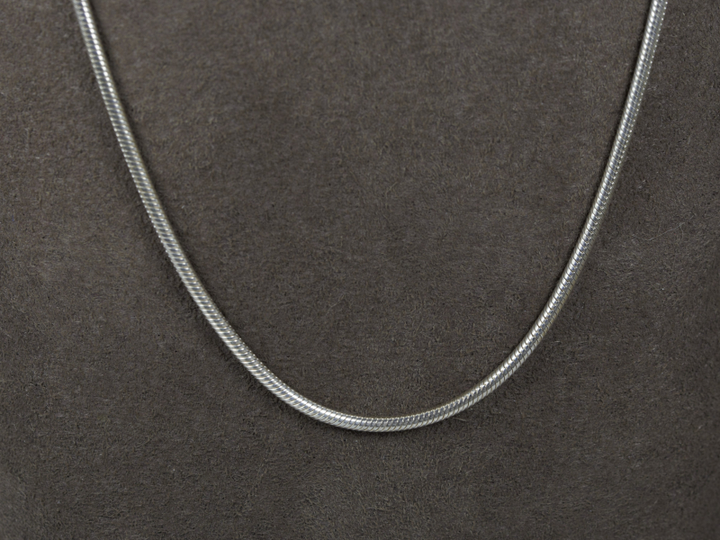 snake chain, sterling silver, 18' silver chain, quality silver chain