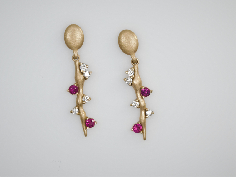 Earrings - Ruby Vine Earrings - image 3