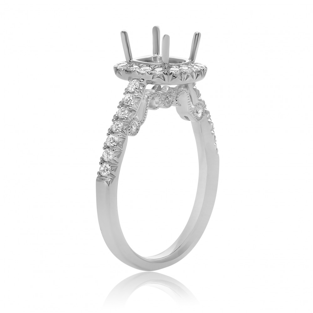 Diamond Semi-Mount Rings - Engagement Ring  - image #3