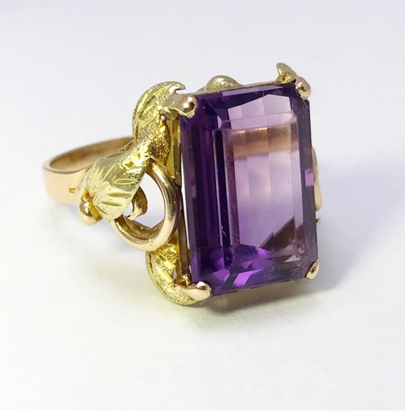 Women's Colored Stone Rings - Fashion Ring - image #2