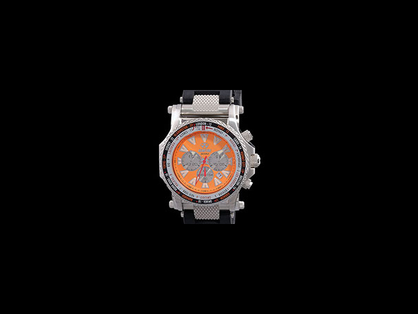 Reactor Watch - Proton - Proton by Reactor - Unique orange bezel displays the time in any time zone.  Water proof up to 200 meters.