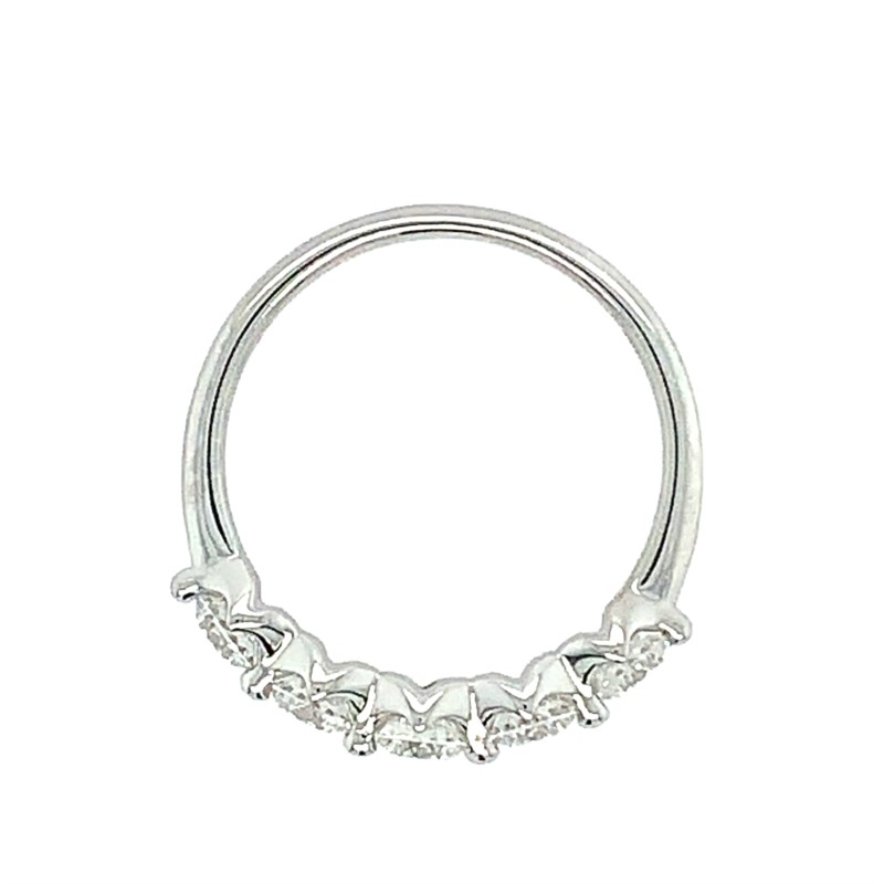 Women's Wedding Bands - Diamond Band - image #2