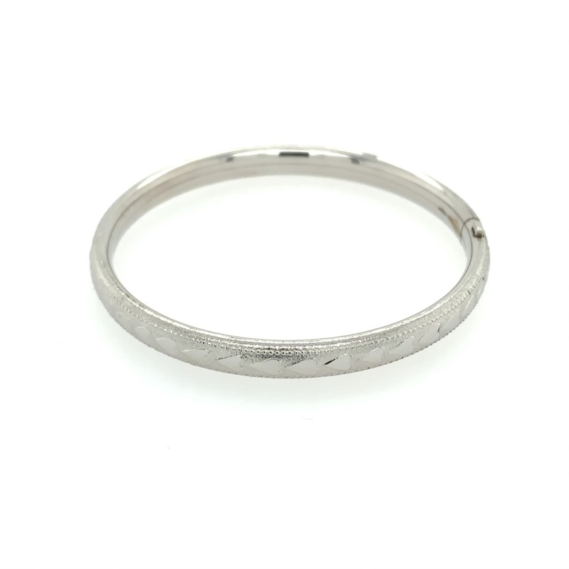 Children's Bracelets - Sterling Silver Baby Bangle - image #2
