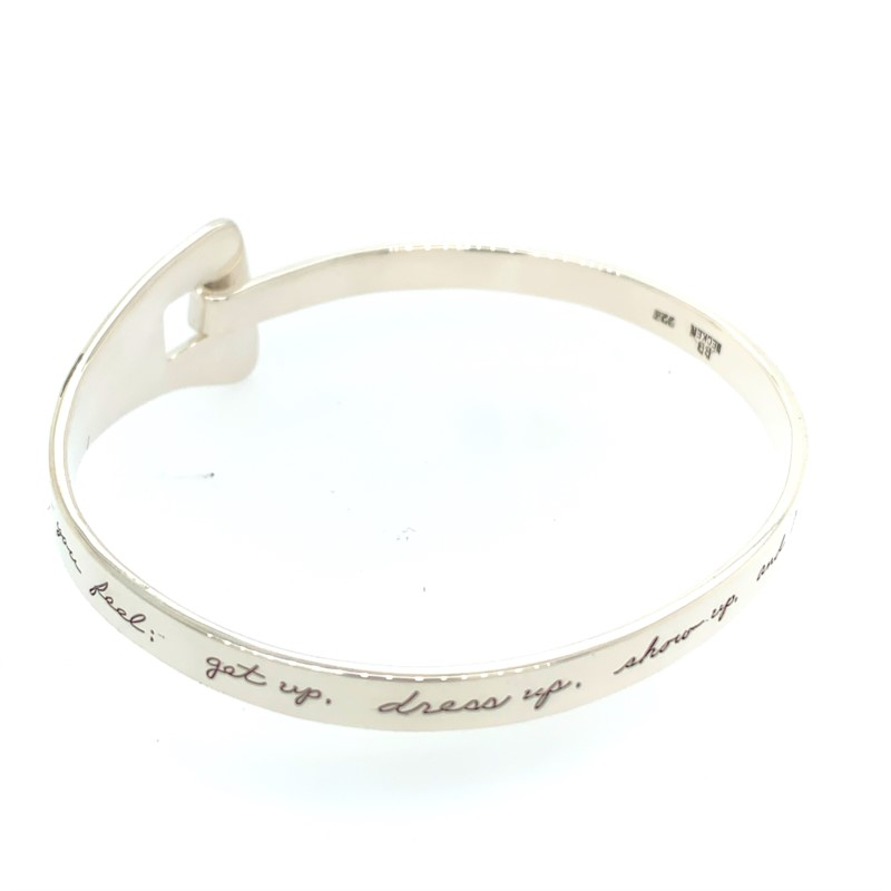 Ladies Silver Bracelets - Sterling Silver Bangle - image #2