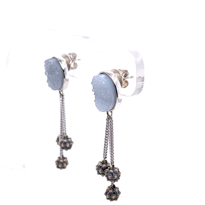 Silver Earrings - Sterling Silver Earrings - image #2