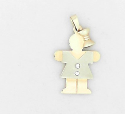 Estate Jewelry - Estate 14K Little Girl Charm - image 2