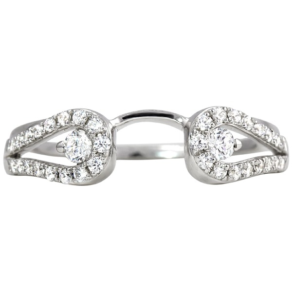 Ladies Diamond Wedding Rings - Diamond Wrap - image #2