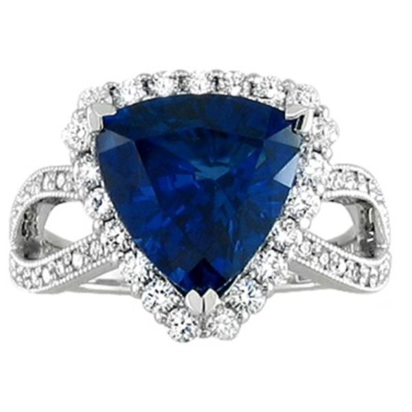 Colored Gemstone Rings - Sapphire and Diamond Ring