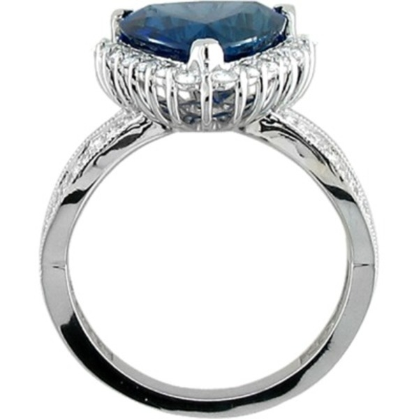Rings - Sapphire and Diamond Ring - image #3