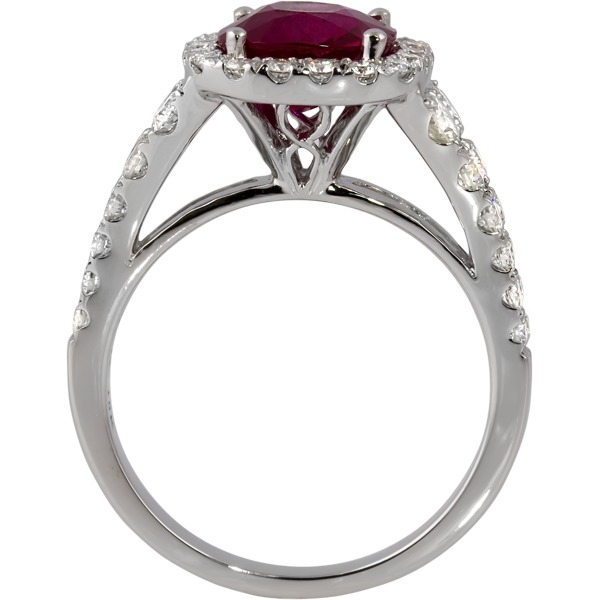 Colored Gemstone Rings - Ruby and Diamond Ring - image 3