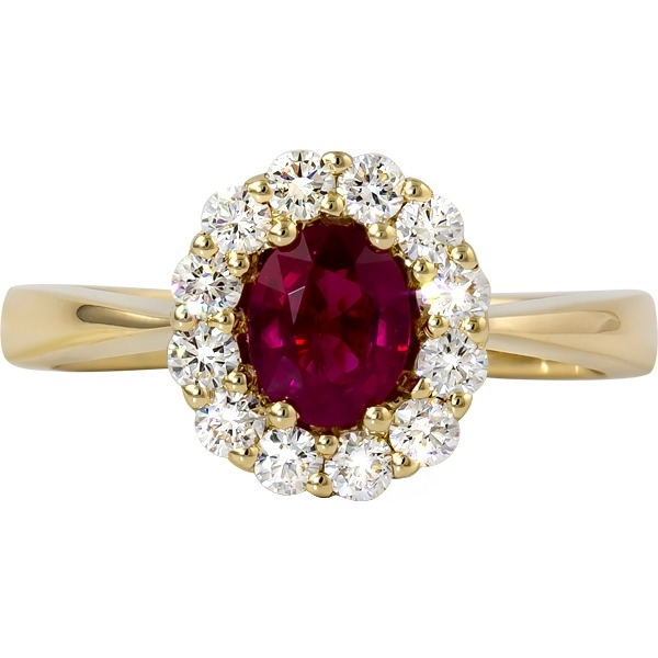 Colored Gemstone Rings - Ruby and Diamond Ring